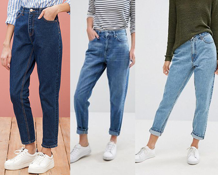 شلوار فاق بلند جین زنانه, مدل های شلوار جین فاق بلند زنانه
