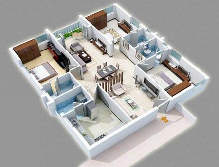 نقشه ساختمان 3 خوابه, طراحی نقشه ساختمان