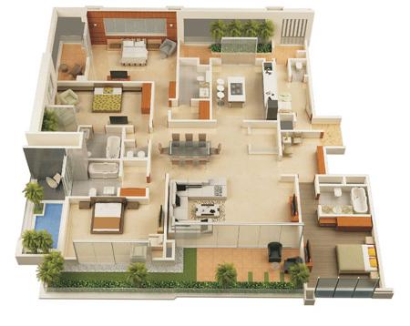 نقشه ساختمان سه بعدی, تصاویر نقشه ساختمان سه بعدی