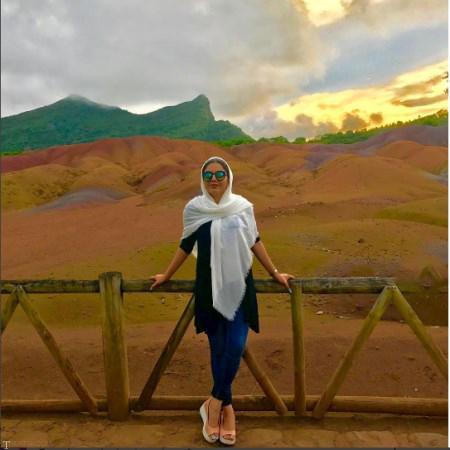 حضور آزاده زارعی در آفریقا «+تصاویر »