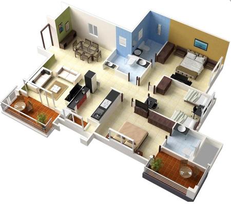 طراحی نقشه ساختمان,نقشه ساختمان سه بعدی